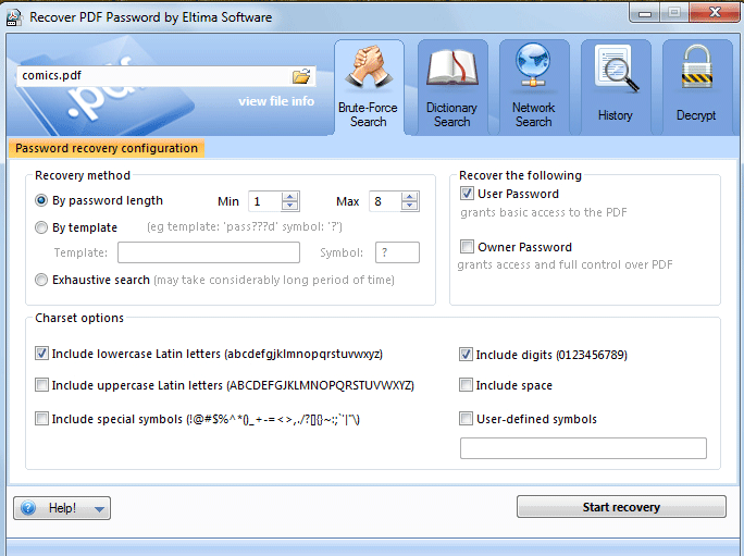 Pdf Password Remover - efficient tool to remove pdf password